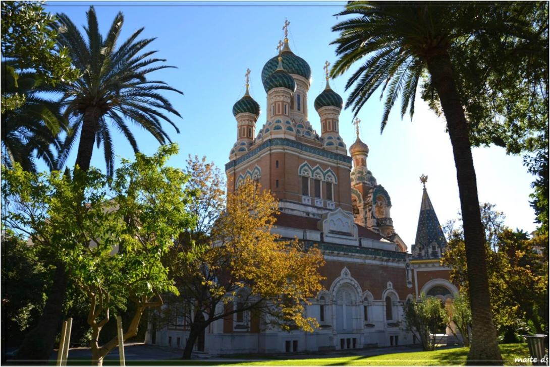 La cathédrale orthodoxe Russe Saint Nicolas à Nice