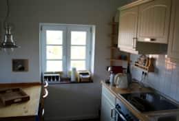 Küche mit Blick Richtung Wattenmeer