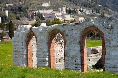 Roman amphitheater in Gubbio