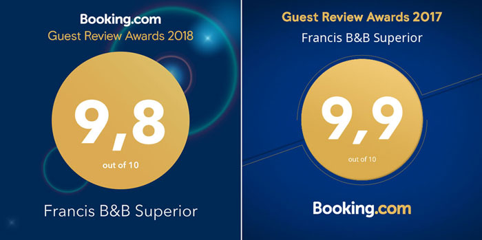 Booking Guest review Awards 2017-2018
