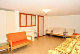 In the basement you have a large comfortable sofa bed for two people and a lot of space.