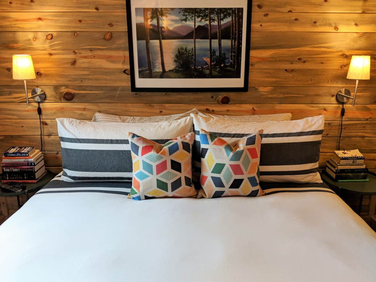 Down pillows and comforter (down alternative option available upon request)