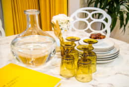 No 70s house would be complete without yellow glassware