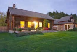 Log Cabin with Adjacent Private Master Bedroom & Bath, $90/night additional.