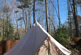 Asheville Glamping deluxe bell tent