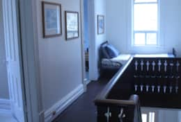 Upstairs hallway with single daybed