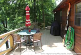 HAVEN RENTALS - PICS -  PORCH ON LAKESID OF CABIN - IMG_8982
