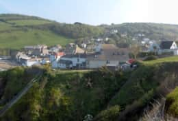 Beachcliff garden on right of this panorama