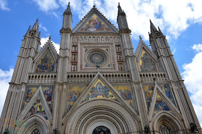The cathedral in Orvieto