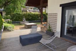 Outdoor terrace at Le 1818 Brides-les-Bains