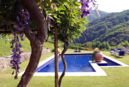 Villa Lavanda Pool from pergola