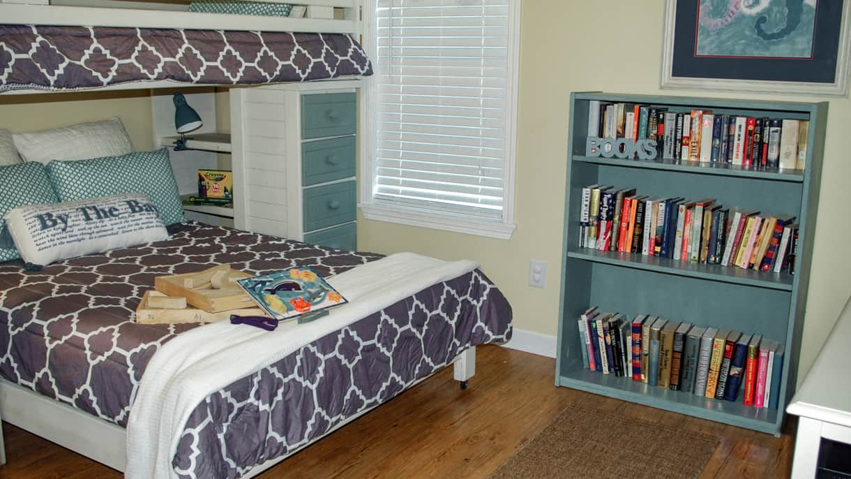 Bunk room and books