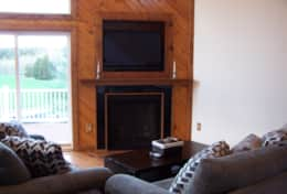 living area/gas fireplace