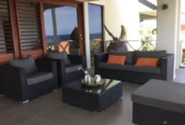 lounge area on the balcony