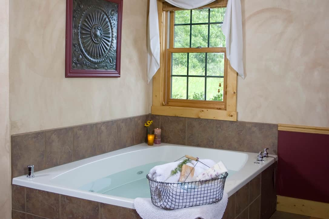 Huge spa Jacuzzi tub at Pine Grove Park Bed and Breakfast Reedsburg Wisconsin