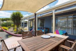 All Decked Out Smiths Beach - Dinner on the Front Deck - Good House Holiday Rentals