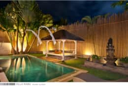Villa Rabu - Garden by night