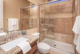 3rd Bathroom with large shower/tub combo