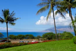 View to West Maui Mts. from in front of the lanai