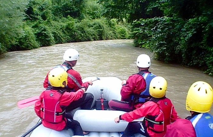 Easy Rafting with children in Umbria