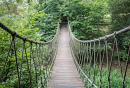 sample suspension bridge- we have 70 feet of suspension bridges