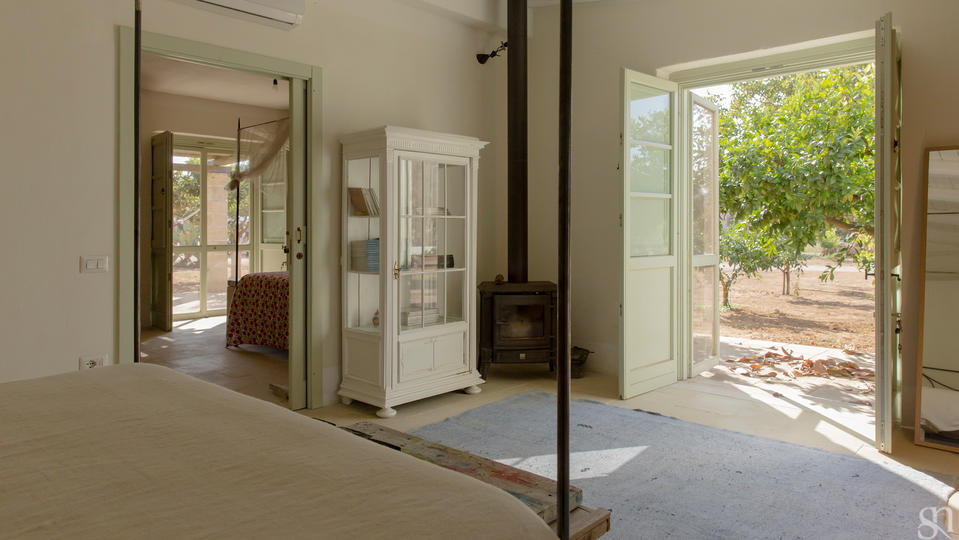 ... Apoikia   Dependance   Double Room Toward The Other Bedroom And French  Door To Outside ...