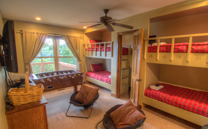 Mountain Home Vacation Rental - Deerwood Retreat - Bunk Room After