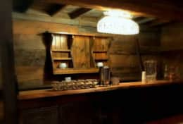 Reclaimed bar in the barn