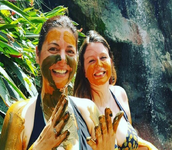 Mud Bath at Soufriere Waterfalls