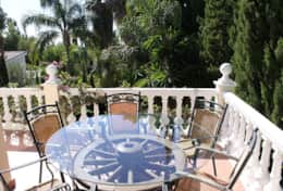 View of top terrace table & chairs