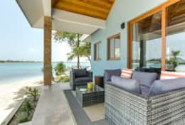 Each villas has a covered, furnished front and back porch with ocean views