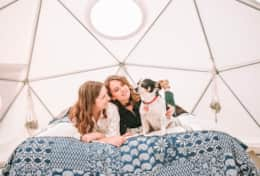 Dome 1 is one of our dog friendly sites at Asheville Glamping