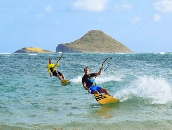 One of the nearby activities on the east coast of st lucia - Kite Surfing