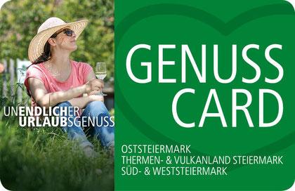 Wir sind GenussCard Partner!