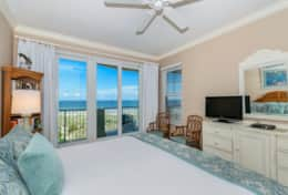 Master bedroom has king bed and opens to patio. Sleep to the sound of the waves.