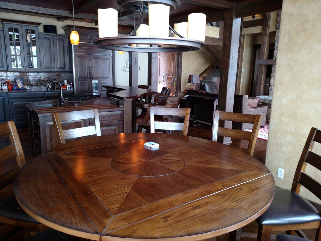 Kitchen table seats 8