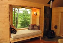 THE WINDOW BED, AND THE WOOD STOVE