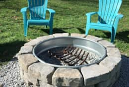 And later on, sit around the fire pit and enjoy the night air.