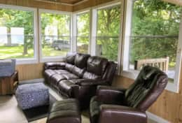 Sunroom with windows on 3 sides