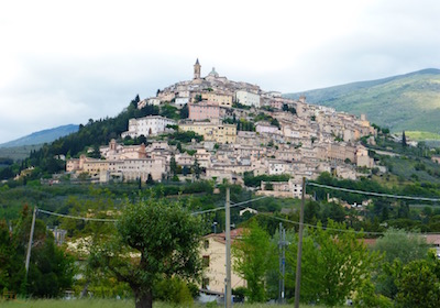 Hilltop town of Trevi