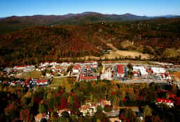 Aerial View of Helen in Fall