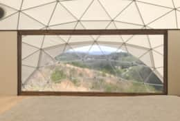 Asheville Glamping Dome features full lookout window to enjoy the view from bed!