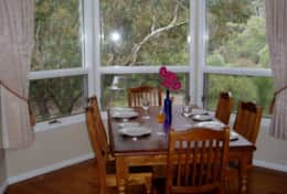 bushland views from the dining table