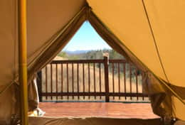 Asheville Glamping Deluxe Bell tent #2