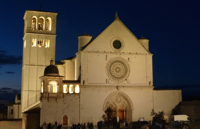 De Sint Franciscus kerk in Assisi