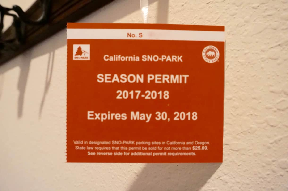 Sno-Park Permit for guests