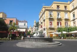 Vico Equense's main square (just 30 metres from Casa Micla)