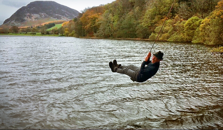 Rope swing on Loweswater