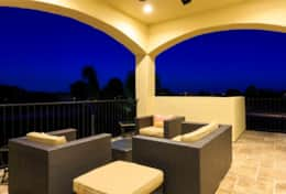 Exclusive Private Villas, 11 Bedroom Villa in Reunion Resort (E149) - Balcony Twilight