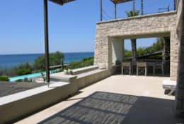 Summer House - terrace first floor overlooking the pool area - Marina di S.Gregorio-Salento